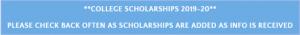 Scholarships 2019-20