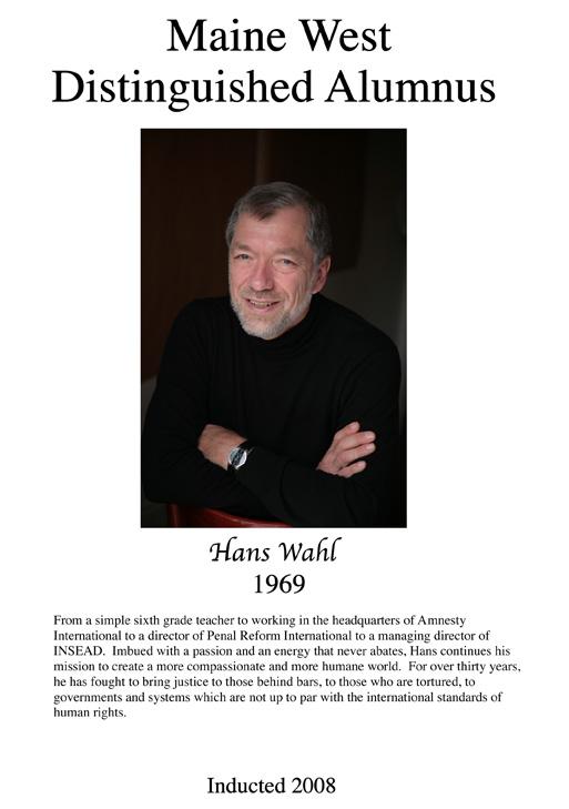 Hans Wahl '69